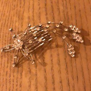 Faux diamonds in a silver spray